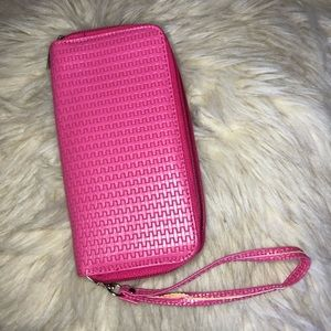 4/$38 women's Pink whistle wallet